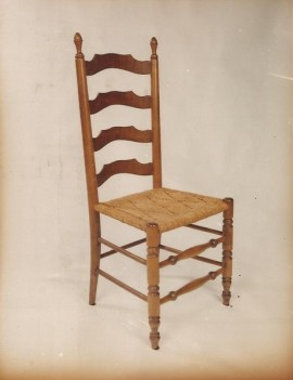 Ladder Back Side Chair   Early American Styling With A Bent Back Leg To Add  Comfort. Looks Great And Is A Very Sturdy Chair.